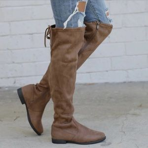 Brand new tan suede boots